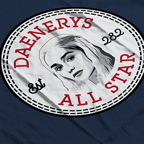 Daenerys Targaryen Game Of Thrones All Star Converse Logo Women's Hooded Sweatshirt Navy Blue