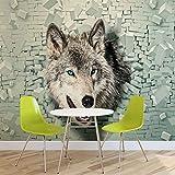 Wolf Tier - Forwall - Fototapete - Tapete - Fotomural - Mural Wandbild - (2941WM) - XL - 254cm x 184cm - Papier (KEIN VLIES) - 2 Pieces