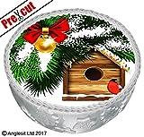 vorgeschnittenen Pretty Winter Weihnachten Kuchen C XI. Topper 17,8cm/18cm essbarem Reispapier/Wafer Papier Dessert Bild Party Urlaub Dekorationen
