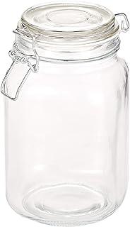 Harmony 1500 ml Glass Jar with Glass Lid & Metal Clip