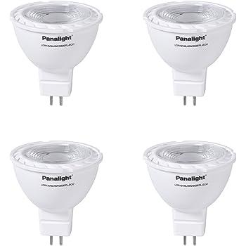Panalight Pack de 4 Lámparas Led Dicroica GU5.3 de 5 W, 4000K