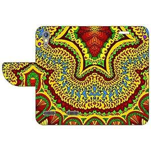 Lenovo A6000 Flip Cover - Flowers Designer Cases