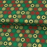 Stoffe Werning Baumwollstoff Weihnachten Eisblumen