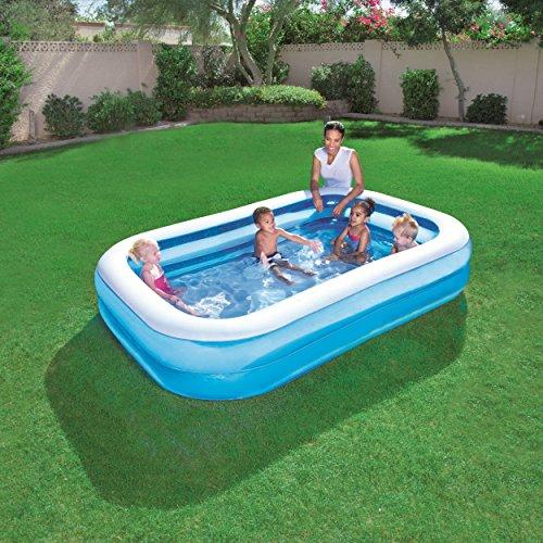 Bestway Family Pool Blue Rectangular, 262x175x51 cm -