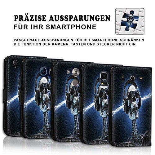 Wallet Book Style Flip Handy Tasche Case Schutz Hülle Schale Motiv Etui für Apple iPhone 6 / 6S - Variante UMV35 Design9 Design 1
