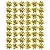 by Robelli - Fiocchi in plastica per Regali di Natale/Compleanno, 50 x 6 cm Oro