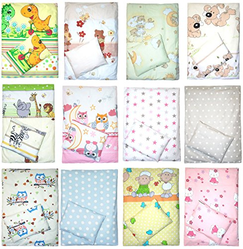 4 teiliges Kinderwagenset Decke Kissen Bezüge D31