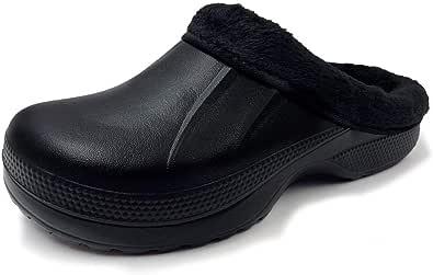 AMOJI Winter Lined Clogs Fur Garden Shoes 1534