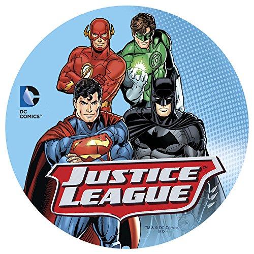 Disque en sucre Justice League Batman Superman Flash et Green Lantern