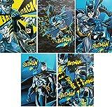 Batman 5 Quadernoni Quaderni maxi A4 Disney Rigatura Q - elementari