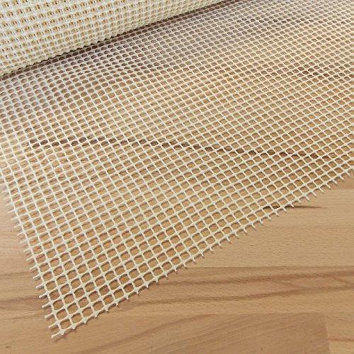 Antirutschmatte Beige 65x60 cm · Breite 65 cm x Länge wählbar - Teppichunterlage zuschneidbar, rutschfest