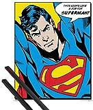 1art1 Poster + Hanger: Superman Mini-Poster (50x40 cm) EIN Job Für Superman Inklusive EIN Paar Posterleisten, Schwarz