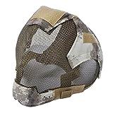 TOOGOO Outdoor Airsoft Maske schuetzende Vollgesichtsfechten Steel Mesh Maske