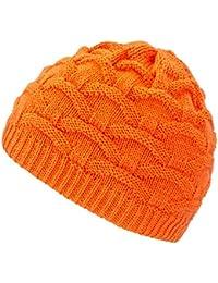 4sold Wave Damen Wurm Winter Wintermütze Style Beanie Mütze Wendemütze mit Fellbommel HAT SKI Snowboard