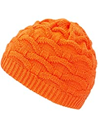 4sold Wave Womens Girls Winter Hat Wool Knitted Beanie Fleece Cap Ski  Snowboard Hats Bobble 0071a949bf6c