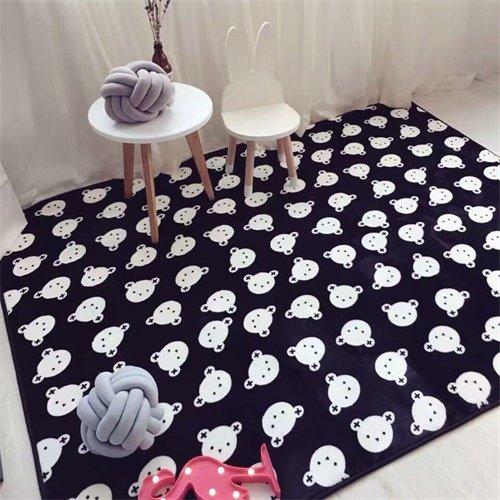 GRENSS Moderne Schlichtheit Schwarz Weiß Chevron tragen Wohnzimmer Schlafzimmer dekorativen Teppich Teppich Badezimmer Fuß Tür Yoga Mat Pad spielen, 3.145 x 190 cm 57 x 75 Zoll (Schwarz Und Weiß Chevron Teppich)