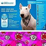 """AQUA COOLKEEPER® kühlendes Halstuch / Bandana 'Roses' Größe: """"L"""" 51 - 60 cm"""