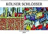 Kölner Schlösser - surreal ins Licht gestellt (Wandkalender 2019 DIN A2 quer): Kölscher Brauch. Liebesschlösser an der Hohenzollernbrücke. (Monatskalender, 14 Seiten ) (CALVENDO Kunst)