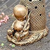 Antiquariato creativo del cestino dell'animale dell'annata per decorazione domestica Regalo del sigaro del contenitore di KTV delle scatole della tabella Art Feng shui Decorazione fortunata o decorazioni della barra - come regali Uomini Fumatori, argento - jianbo123 - amazon.it