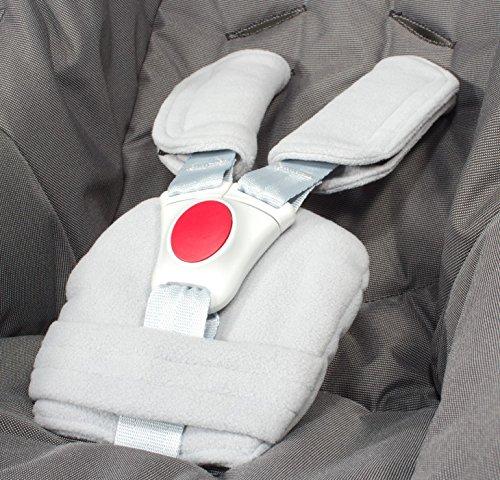 ByBUM® - Set copricintura - universale per ovetto, seggiolino auto (p.es. Maxi Cosi City SPS, Cabrio, Cybex Aton ecc.), Buggy; In diversi colori; MADE IN EU, Colore:Grigio
