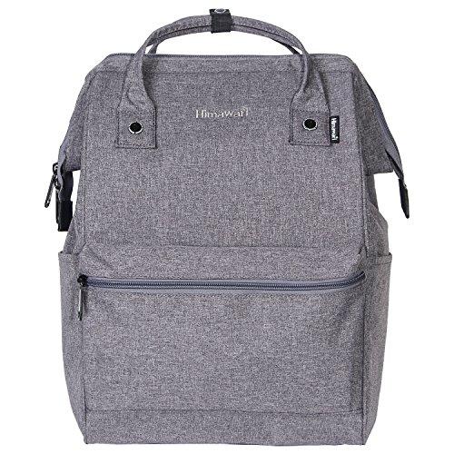 Himawari Polyester Rucksack Laptop Tasche Schultertasche Für 13-Zoll Laptop Grau