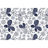 #6: ArtzFolio Snowflakes & Butterflies Art & Craft Gift Wrapping Paper 18 x 12inch;SET OF 2 PCS