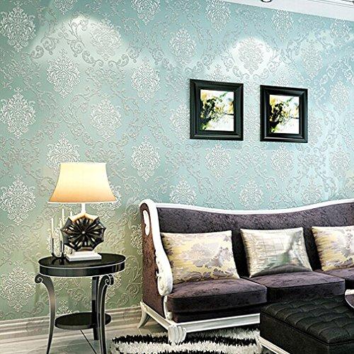 KINLO® Tapete Vlies 3d 10x0.53mTapete Wand Tapete Blau Barock Für  Wohnzimmer TOP Qualität Wandaufkleber Für Schlafzimmer Möbelfolie Barock Tapete  Modern ...