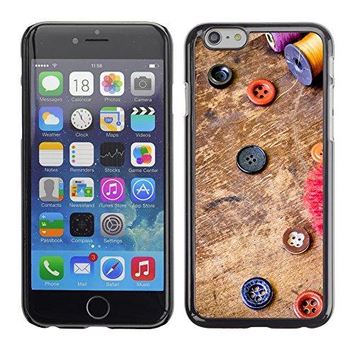 Graphic4You Cool Buttons On Table Design Harte Hülle Case Tasche Schutzhülle für Apple iPhone 6 / 6S Design #7