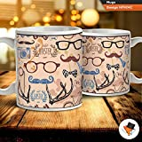 Best Uncle Cups - Glasses and moustache dad grandad uncle coffee tea Review