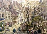 Kunstdruck/Poster: Hans Baluschek Waisenstraße-Alt-Berlin - hochwertiger Druck, Bild, Kunstposter, 55x40 cm