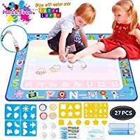 """Aqua Magic Mat, Kids Painting Writing Doodle Board Toy Color Doodle Water Drawing Mat Educational Toys for Age 1 2 3 4 5 6 7 8 9 10 Year Old Girls Boys Age Toddler Birthday Gift (39.5""""x 31.5"""")"""