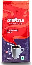 Lavazza IL Mattino Vivace 100% Pure Filter Ground Coffee Powder, 200g (Pack of 2)