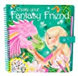 Create Your Fantasy Model and Friends Colouring Book With Scratch Sticker