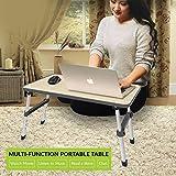 Simxen Desk Ergonomic Height Adjustable Foldable Multi-Function Portable E Laptop/Study/Bed Table