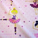 Stoff Baumwolle Ballerina Balletttänzerin Punkte Sterne