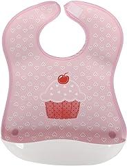Sevi Bebe Plastik Cepli Mama Önlüğü Pembe