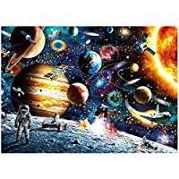 Blppldyci Space Puzzle Jigsaw Puzzles for Grown Ups 1000 Piece Jigsaw Puzzles for Adults Planets in Space Jigsaw Floor Puzzle