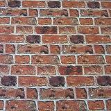 Stoff Fotodruck Meterware Ziegel Ziegelstein Klinker Mauer Stein