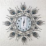Bomeautify Kreative stilvolle abstrakte Schmiedeeisen-Wanduhr Hauptwandaufkleber Uhren