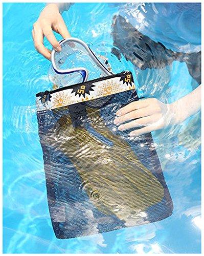 Fortunings JDS Sacchetto di spalla del sacchetto di immagazzinaggio di Sunglass della borsa di spiaggia della maglia delle donne di modo Giallo