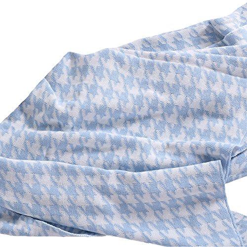 MDCT Classic Plaid Baumwolldecke Überwurf Sofa Bett Überwurf Hahnentritt 130 x 180 cm Color 1 -