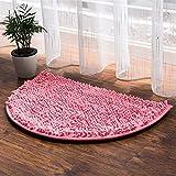 GCCI Teppich Halbkreisförmige Matten Saug-Bad-Matten WC-Matten Badezimmer-Tür Matte dicke Matte Tür Teppich Mat,50 * 80cm,BBB