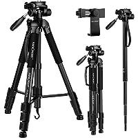 """K&F Concept 70""""/177cm Treppiede Treppiedi Fotocamera Alluminio Leggero con Supporto Mobile Monopiede Portatile Per Canon…"""