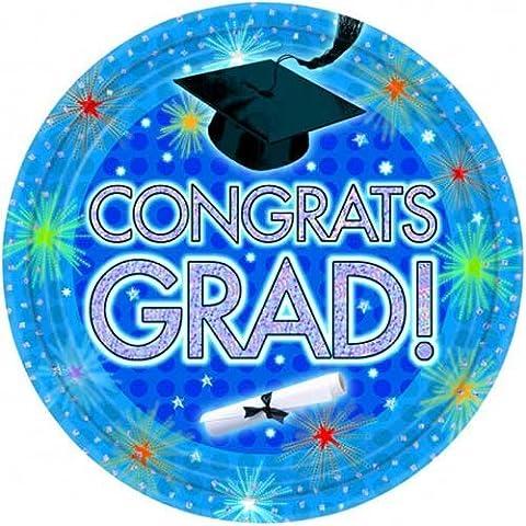 Congrats Grad Theme 9Inch Paper Plate -
