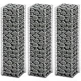 Conjunto de 3 Gaviones Pared Alambre Galvanizado 25 x 25 x 100 cm