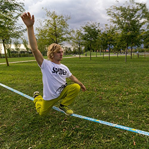 SPIDER SLACKLINES TRAINING line 18m klettern jonglieren - 10