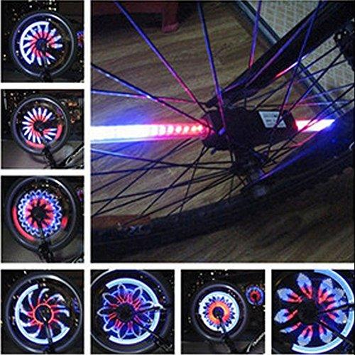 Goldfox® Éclairage 32 LED pour roues de vélo Changement automatique avec la vitesse 42 cm