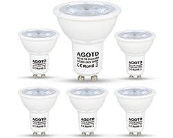 AGOTD Bombillas LED GU10 Regulable 7w Blanco Cálido, Alta Compatibilidad, Sin Parpadeo, Sin Ruido, 3000K, 560Lm, Lampara Halo