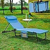 SoBuy® Tumbona Tomar el sol, Transat Jardín Cuna, silla de camping, relajarse reclinable, OGS27-B, ES