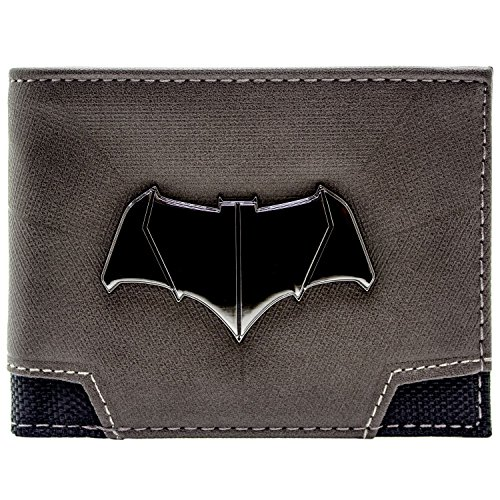 DC Comics Batman Superman Bat Emblem Grau Portemonnaie - Dc Comics Neue Superman Kostüm